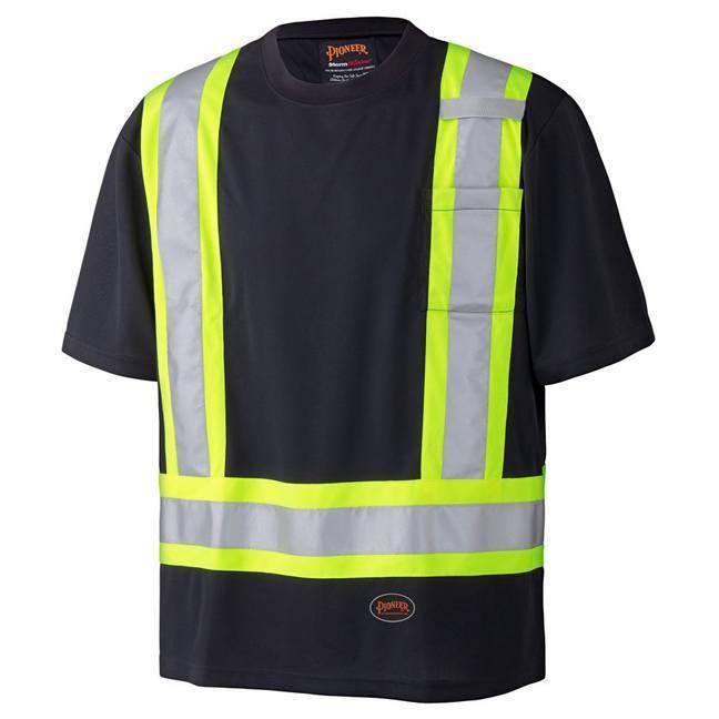 Pioneer 6992 Birdseye Black Safety T-Shirt