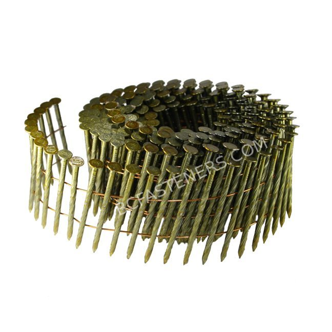 Spiral Shank Coil Nail Bright Coated