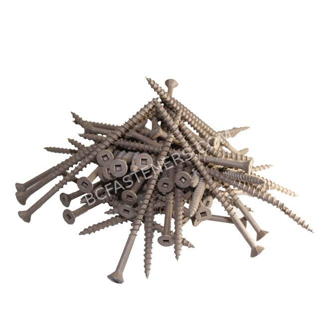Wood Screw Flat Head Brown Ceramic