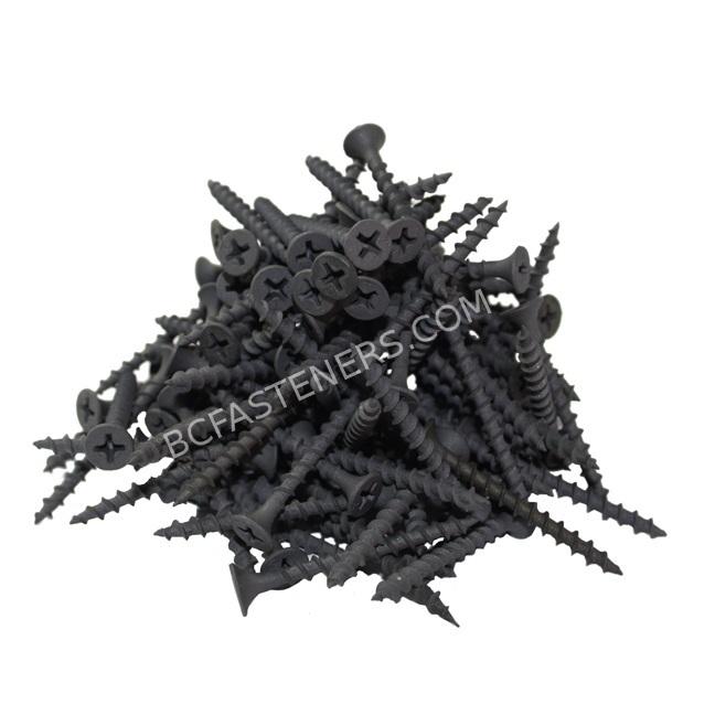#6 Drywall Screws Coarse Thread Flat Head Phosphate Coated