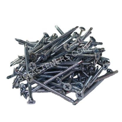 #6 Drywall TEK Screws Flat Head Zinc