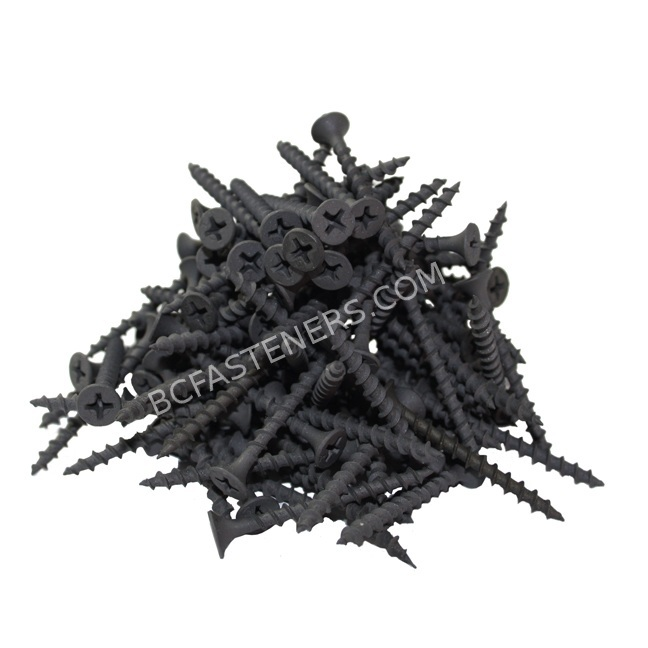 #8 Drywall Screws Coarse Thread Flat Head Phosphate Coated