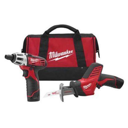Milwaukee 2490-22 M12 Cordless 2-Tool Combo Kit