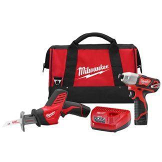 Milwaukee 2491-22 M12 Cordless 2-Tool Combo Kit