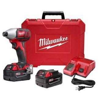 "Milwaukee 2657-22 2-Speed 1/4"" Hex Impact Driver Kit"
