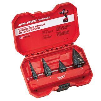 Milwaukee 48-89-9223 4-Piece Step Drill Bit Set