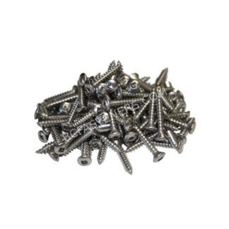 #10 Oval Head Square Drive Type A Screws - Stainless Steel