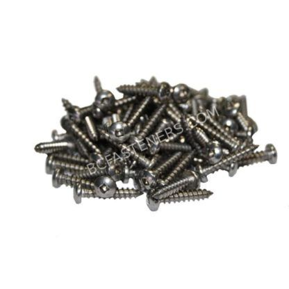#14 Pan Head Square Drive Type A Screws - Stainless Steel