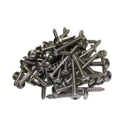 #6 Truss Head Square Drive Type A Screws - Stainless Steel