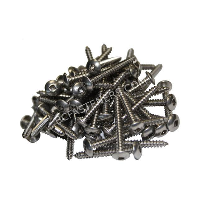 8 Truss Head Square Drive Type A Screws Stainless Steel