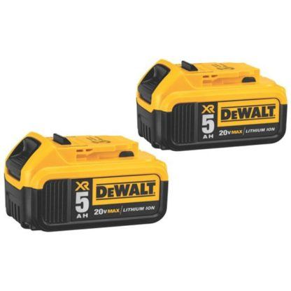 DeWalt DCB205 20V Premium XR 5.0aH Battery - 2 Pack