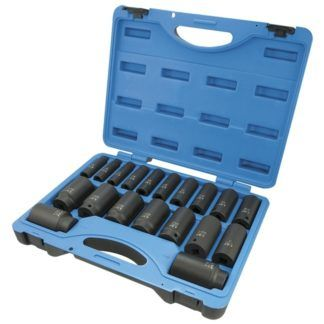 Jet 610329 19-Piece SAE Impact Socket Set - 6 Point