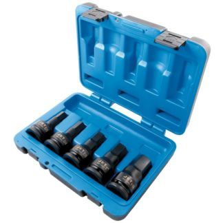 Jet 610411 5-Piece SAE Impact Hex Bit Socket Set