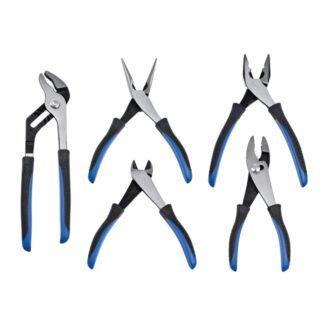 Jet 730305 5-Piece Chrome Nickel Pliers Set