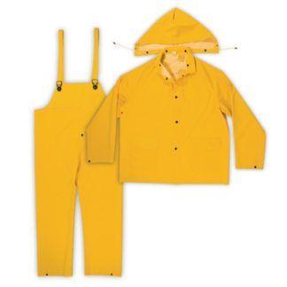 Kuny's R101 3-Piece PVC Rain Suit Yellow