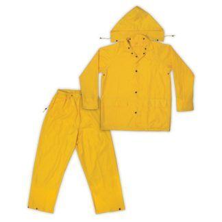 Kuny's R102 3-Piece Polyester Rain Suit Yellow
