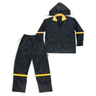 Kuny's R103 3-Piece Nylon Rain Suit Black