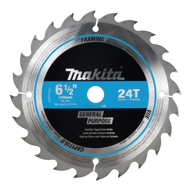 "Makita T-01395 16CT 6-1/2"" Cordless Circular Saw Blades"