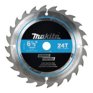 """Makita T-01426 16CT & 24CT 6-1/2"""" Cordless Circular Saw Blades"""