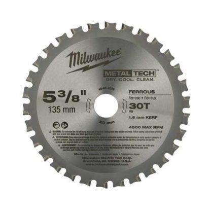 "Milwaukee 48-40-4070 30CT 5-3/8"" Circular Saw Blades"