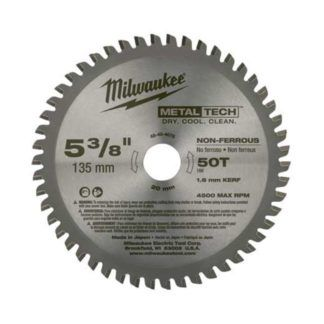 "Milwaukee 48-40-4075 50CT 5-3/8"" Circular Saw Blades"