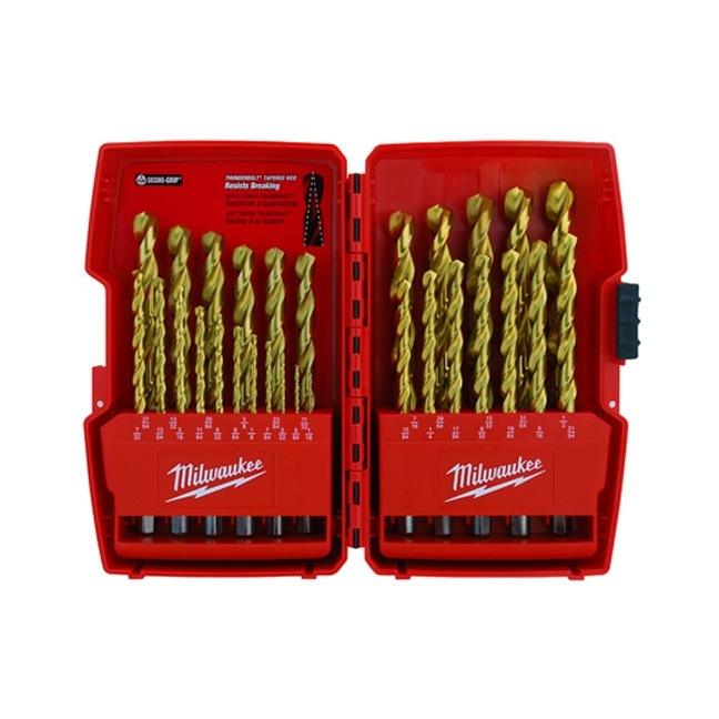 Milwaukee 48-89-0012 Titanium Coated Drill Bits - 29 PC