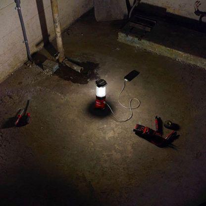 Milwaukee 2362-20 M12 LED Lantern Flood Light In Use
