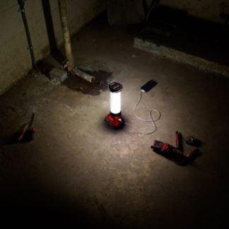 Milwaukee 2363-20 M18 LED Lantern Flood Light In Use