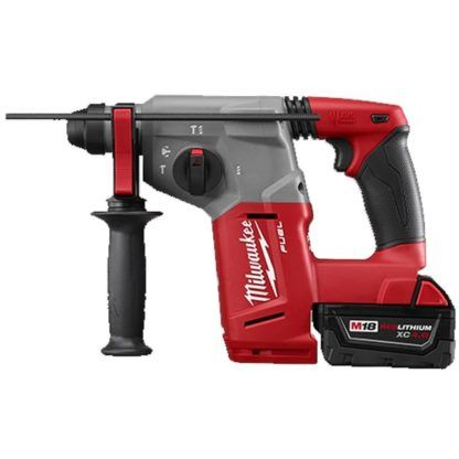 "Milwaukee 2712-22DE M18 1"" SDS Plus Rotary Hammer & Dust Extractor Kit"