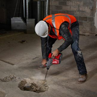 Milwaukee 2715-20 M18 FUEL SDS Plus Rotary Hammer In Use 2