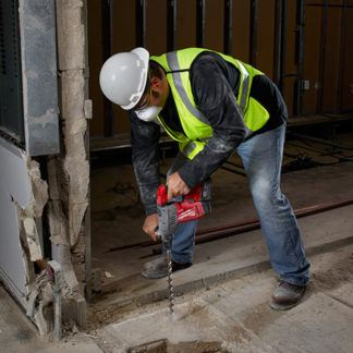 Milwaukee 2715-20 M18 FUEL SDS Plus Rotary Hammer In Use 3