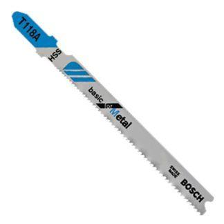 "Bosch T118A T-Shank 3-5/8"" 17-24TPI Jig Saw Blades - 5 Pack"