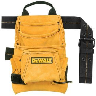 DeWalt DG5333 10-Pocket Carpenter's Suede Nail & Tool Bag