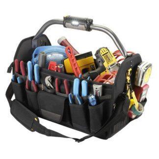 Kuny's L238 47-Pocket Lighted Handle Open Top Tool Carrier