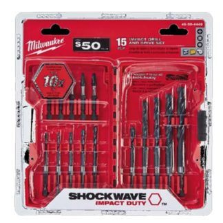 Milwaukee 48-89-4449 15PC Impact Drill Drive Set