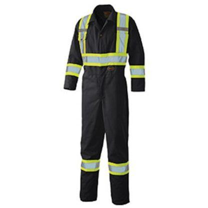 Pioneer 5519BKT Hi-Viz Safety Poly Cotton Coverall