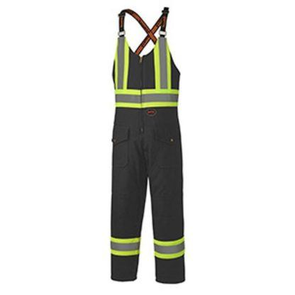 Pioneer 5536BK Quilted Cotton Duck Safety Overall