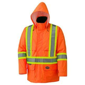 Pioneer 5594 Hi-Viz 150D Safety Jacket with Detachable Hood