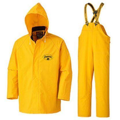 Pioneer 571 Flame Resistant PVC Heavy-Duty 3-Piece Rain Suit