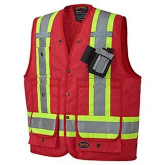 Pioneer 693 CSA Surveyor's Vest - Red