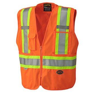 Pioneer 6935 Hi-Viz Safety Tear-Away Mesh Back Vest