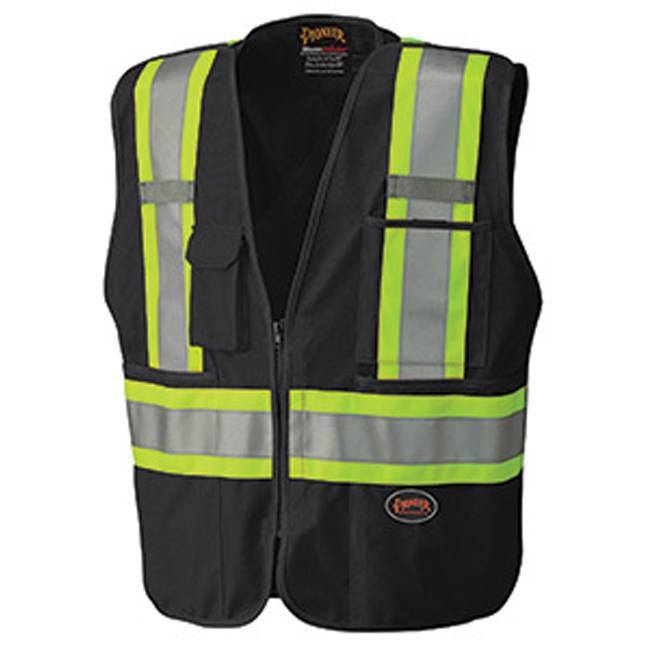 Pioneer 6937 Hi-Viz Safety Tear-Away Mesh Back Vest