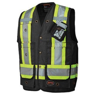 Pioneer 694BK CSA Surveyor's Vest - Black
