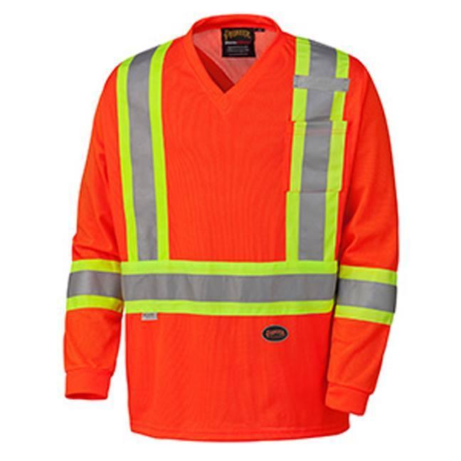 Pioneer 6984 Hi-Viz Traffic Micro-Mesh Long-Sleeved Safety Shirt
