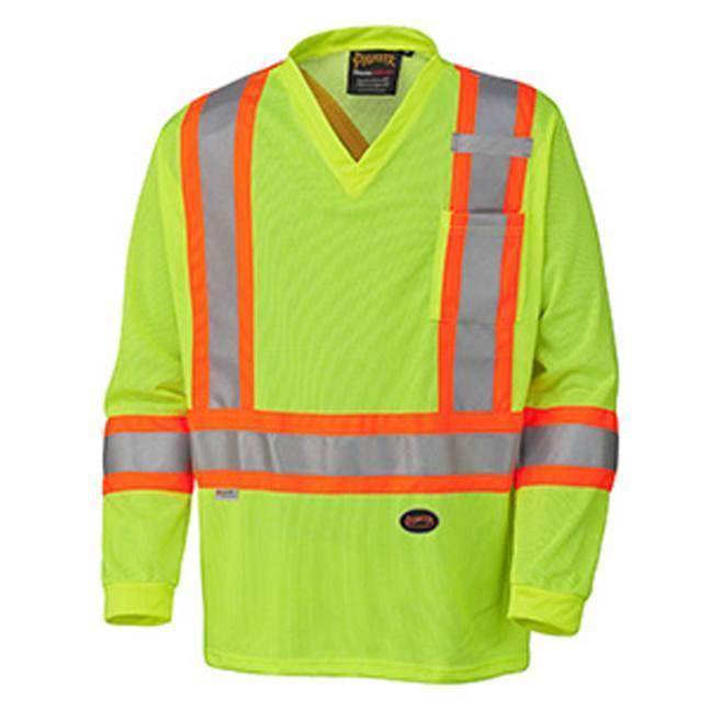 Pioneer 6985 Hi-Viz Traffic Micro-Mesh Long-Sleeved Safety Shirt