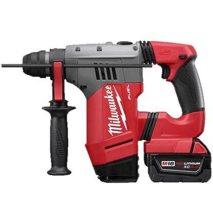 "Milwaukee 2715-22DE M18 FUEL 1-1/8"" SDS Plus Rotary Hammer Kit"