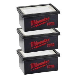 Milwaukee 49-90-2306 M12 Hammervac Filter - 3pc