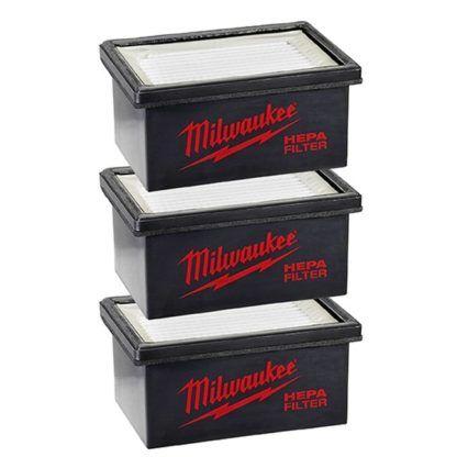 Milwaukee 49-90-2306 M12 Hammervac Filter - 3pc