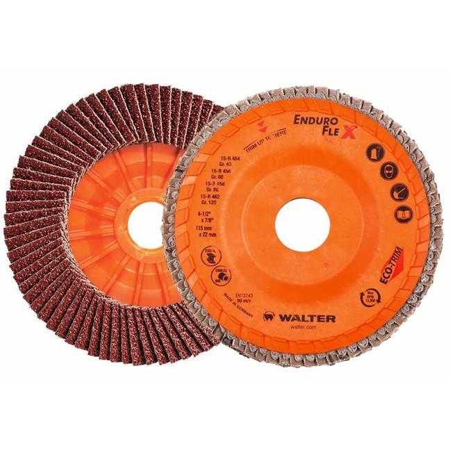 "Walter 06B458 4-1/2"" 80G Enduro-Flex Flap Disc"