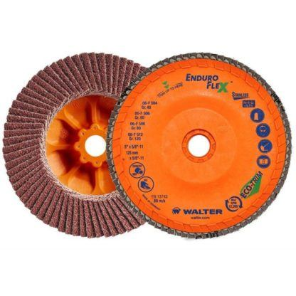 "Walter 06F504 5"" 40G Enduro-Flex Flap Disc for Stainless"